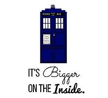 Doctor Who Tardis: It's Bigger on the Inside (Script) Photographic Print