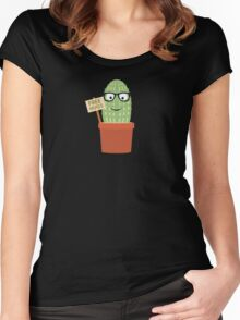 Cactus free hugs Women's Fitted Scoop T-Shirt