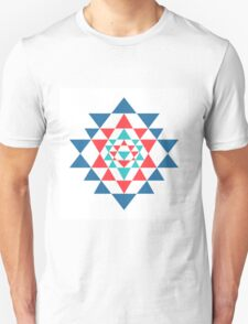 Sacred geometry and alchemy symbol Sri Yantra T-Shirt