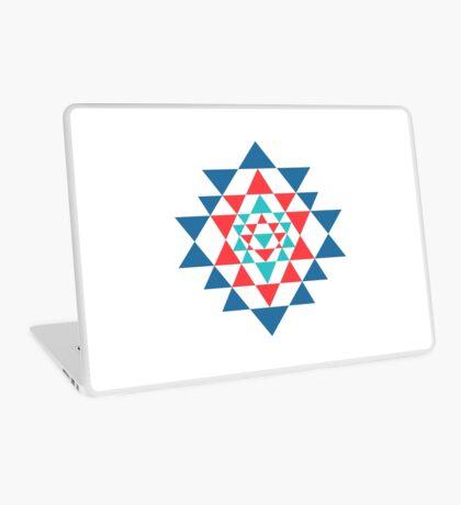 Sacred geometry and alchemy symbol Sri Yantra Laptop Skin