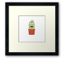 Cactus with ribbon Framed Print