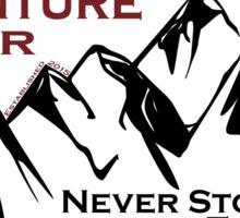 Adventure Finder Mountain Sticker Sticker