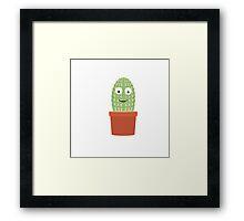 Smiling cactus Framed Print