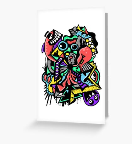 Fish Graffiti Greeting Card