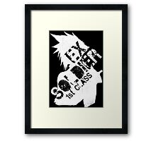 Cloud Strife ex-SOLDIER white Framed Print