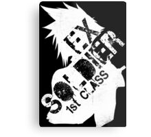 Cloud Strife ex-SOLDIER white Metal Print