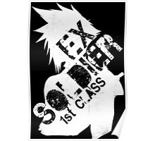 Cloud Strife ex-SOLDIER white Poster