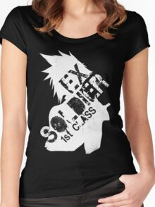 Cloud Strife ex-SOLDIER white Women's Fitted Scoop T-Shirt