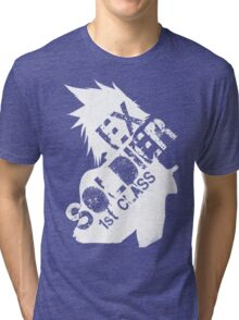 Cloud Strife ex-SOLDIER white Tri-blend T-Shirt
