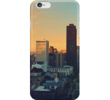 Morning city lights iPhone Case/Skin