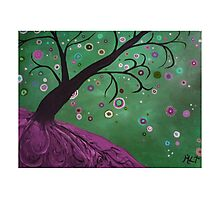 Magical Mystical Tree Purple Photographic Print