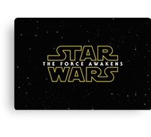 Star wars The Force Awakens 2016 Canvas Print