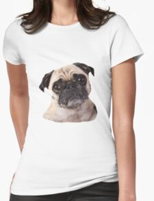 cute little pug dog Womens Fitted T-Shirt