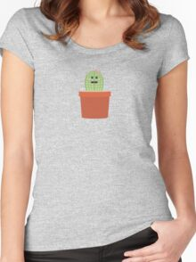 Baby cactus Women's Fitted Scoop T-Shirt