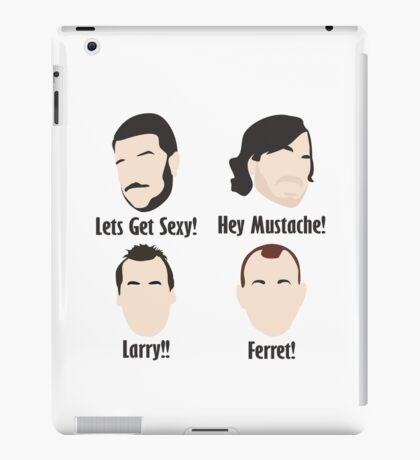 Impractical Jokers Sal Q Murr Joe Gatto Larry! Ferret! Funny TV Show Fan Art Unofficial   iPad Case/Skin