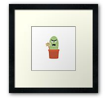 Angry cactus with free hugs Framed Print