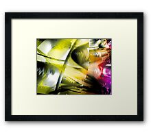 Yellow Machinery Abstract Art Framed Print