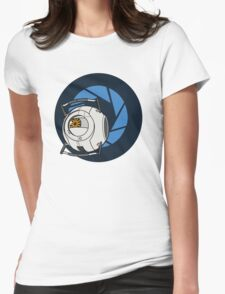 Portal 2 Space Core! Womens Fitted T-Shirt