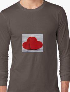 Valentine heart background Long Sleeve T-Shirt