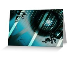 Blue World Art Greeting Card