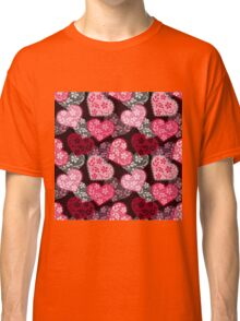 Lacy hearts pattern Classic T-Shirt