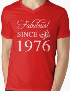 Fabulous Since 1976 Mens V-Neck T-Shirt