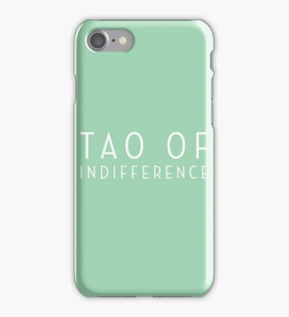 Tao of Indifference Logo - White Lettering iPhone Case/Skin