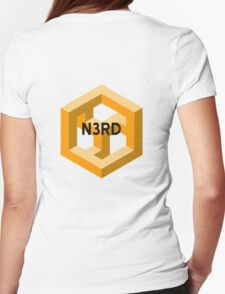 Nerd Isometric illusion Womens Fitted T-Shirt