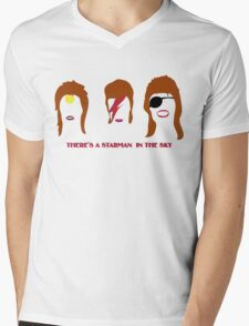 BOWIE  Mens V-Neck T-Shirt