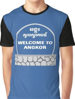 Welcome to Angkor Wat, Siem Reap, Cambodia Graphic T-Shirt