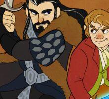 Bilbo and Thorin Sticker