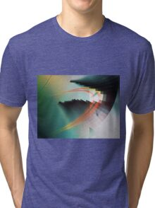 Multi-Color Abstract Symbol Tri-blend T-Shirt