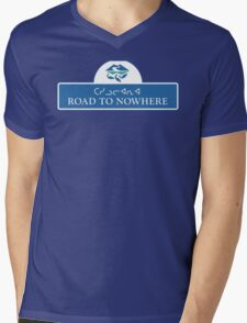 Road to Nowhere Sign, Iqaluit, Canada Mens V-Neck T-Shirt
