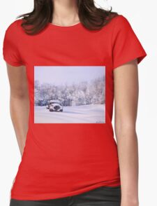 Betsey in the Snow Womens Fitted T-Shirt