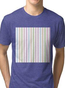 Pastel Hue Stripe Pattern Tri-blend T-Shirt