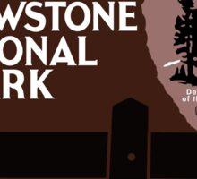Yellowstone National Park Sign, Wyoming, USA Sticker