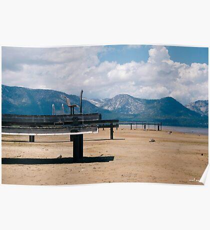 Docks on Dry Lake Tahoe Poster