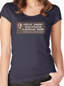 Great Smoky Mountains National Park, NC & TN, USA Women's Fitted Scoop T-Shirt