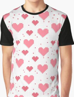 Abstract 8-bit oldschool heart pattern Graphic T-Shirt