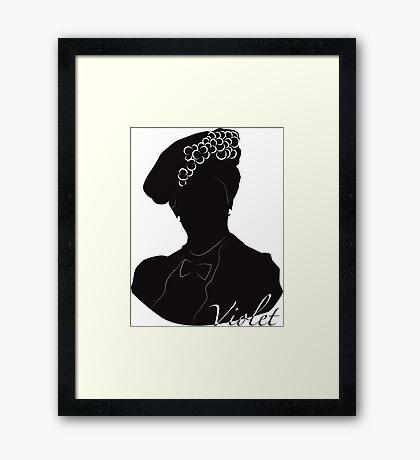 Downton Abbey, Violet Framed Print