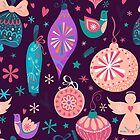 Christmas Baubles Seamless Pattern by Lidiebug