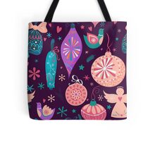 Christmas Baubles Seamless Pattern Tote Bag