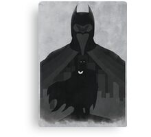 Justice: the Knight Minimalist Comics Justice League of America Canvas Print