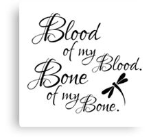 Blood and Bone Canvas Print