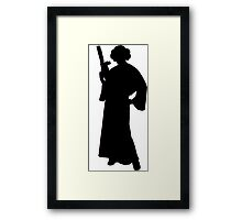 Star Wars Princess Leia Black Framed Print