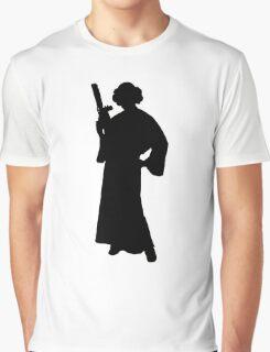 Star Wars Princess Leia Black Graphic T-Shirt