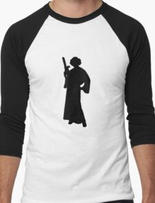 Star Wars Princess Leia Black Men's Baseball ¾ T-Shirt