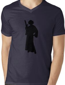 Star Wars Princess Leia Black Mens V-Neck T-Shirt