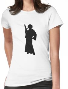 Star Wars Princess Leia Black Womens Fitted T-Shirt