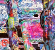 Cadillac Ranch Afternoon Painterly Sticker